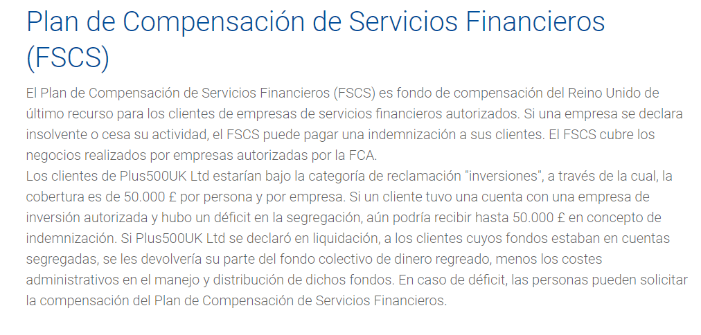 Fondo de compensación FCA