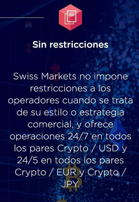 condiciones cryptos Swissmarkets