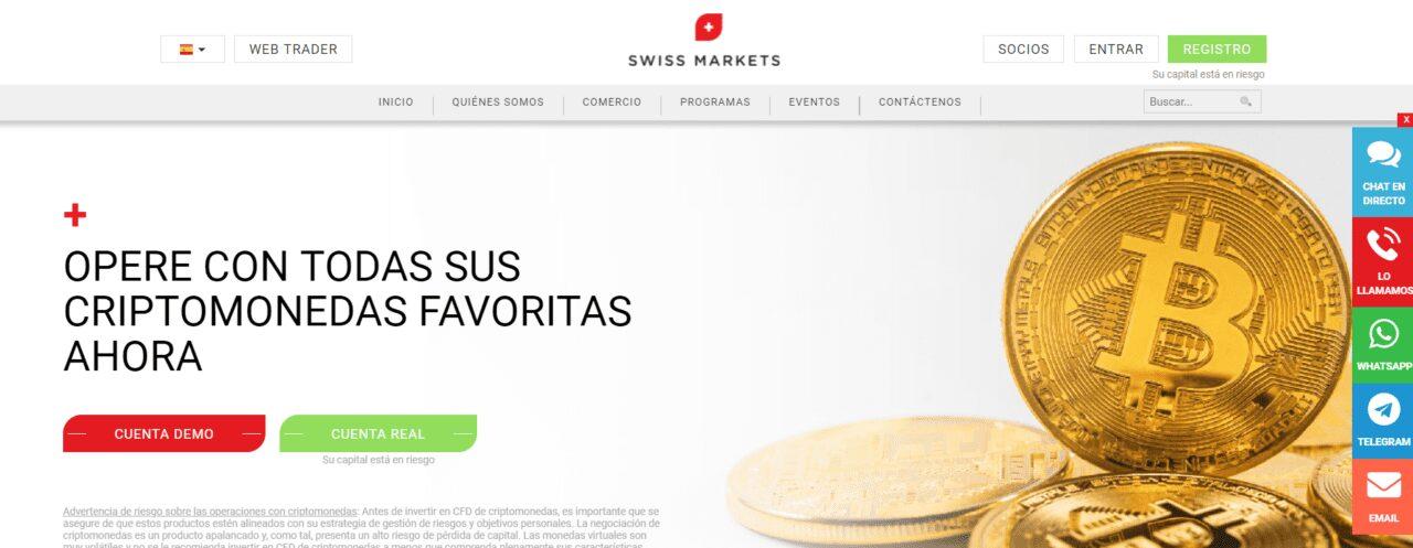 SwissMarkets criptomonedas