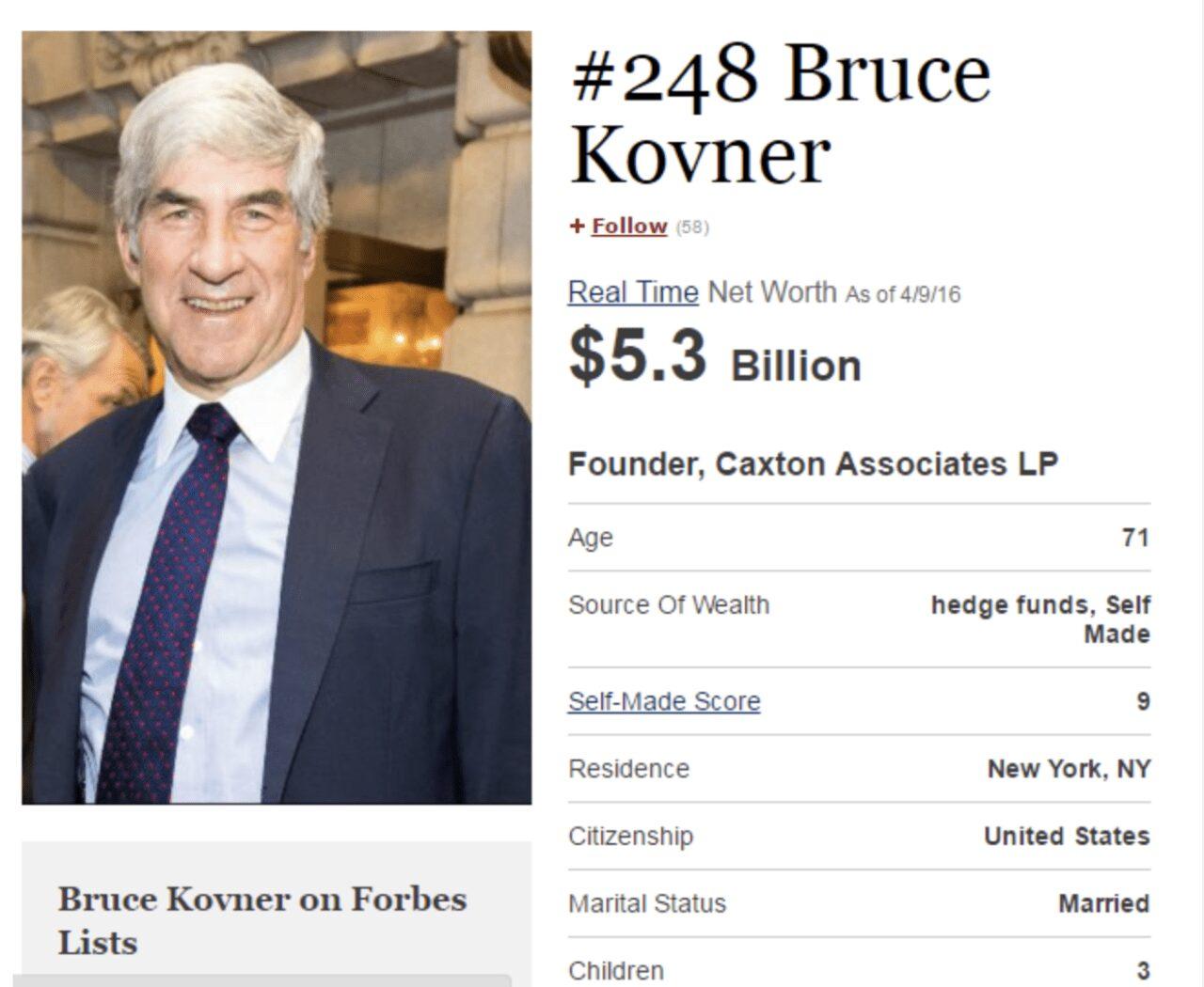 Bruce Kovner de taxista a millonario trader millonario forex bruce kovner bruce kovner trader