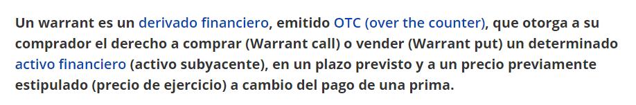 Turbo24 es un Warrant