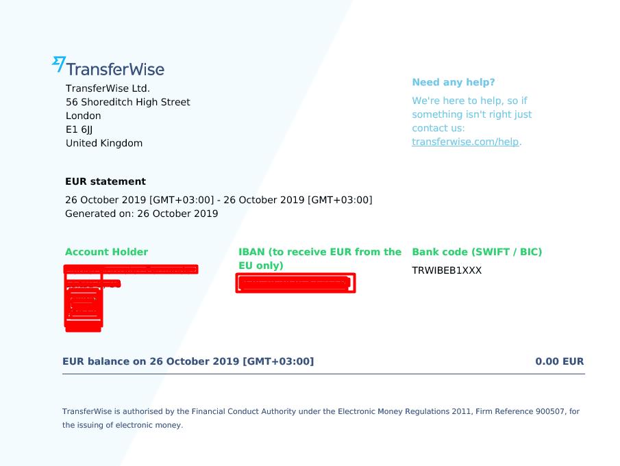 Extracto cuenta TransferWise